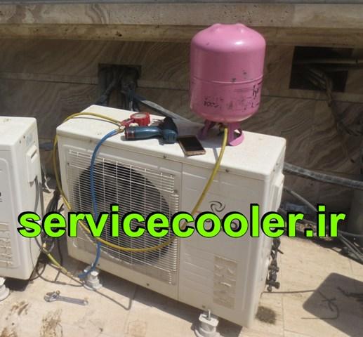 شارژ گاز کولر گازی اسپیلت